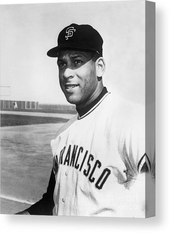 1950-1959 Canvas Print featuring the photograph Orlando Cepeda by National Baseball Hall Of Fame Library