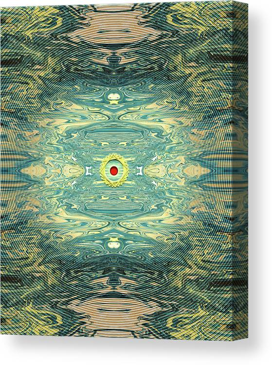 Abstract Canvas Print featuring the digital art Queen of Hearts by Jack Entropy