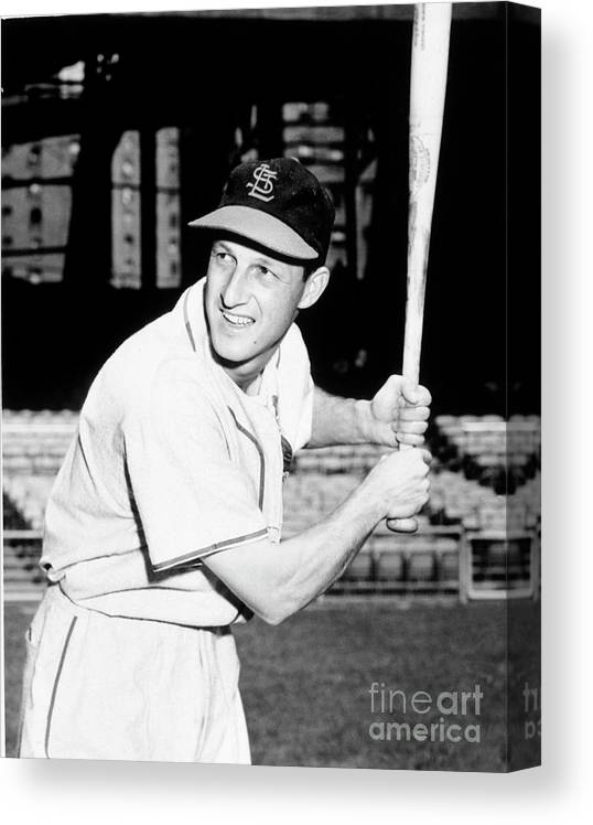 Professional Sport Canvas Print featuring the photograph Stan Musial by National Baseball Hall Of Fame Library