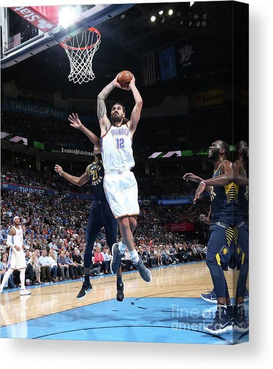 Nba Pro Basketball Canvas Print featuring the photograph Steven Adams by Layne Murdoch