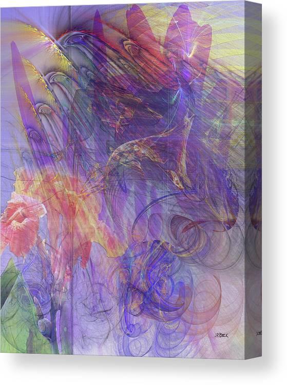 Summer Awakes Canvas Print featuring the digital art Summer Awakes by John Robert Beck