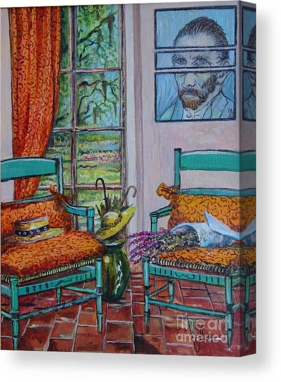 Still Life Canvas Print featuring the painting The Colors of Vincent van Gogh by Sinisa Saratlic