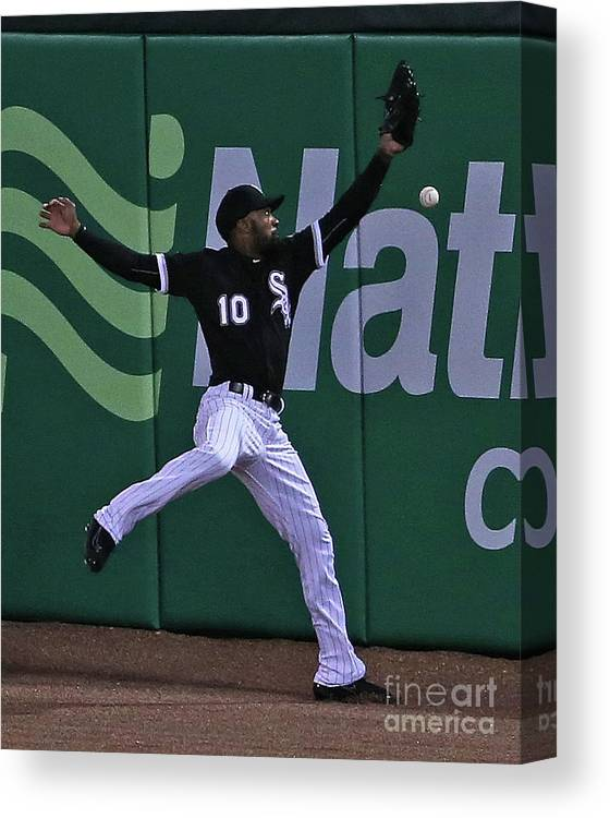 People Canvas Print featuring the photograph Travis Shaw and Austin Jackson by Jonathan Daniel