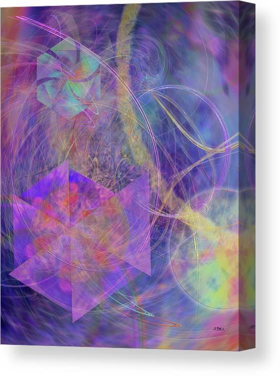 Turbo Blue Canvas Print featuring the digital art Turbo Blue by John Robert Beck