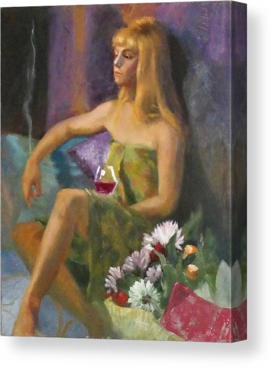 Portrait Canvas Print featuring the painting Unloved Flowers by Irena Jablonski