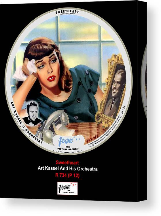 Vogue Picture Record Canvas Print featuring the digital art Vogue Record Art - R 734 - P 12 by John Robert Beck