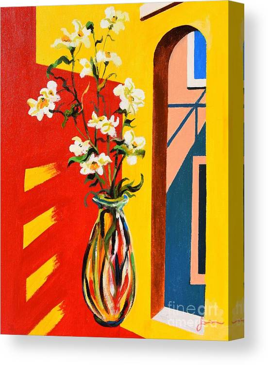 Still Life Canvas Print featuring the painting Window by Sinisa Saratlic