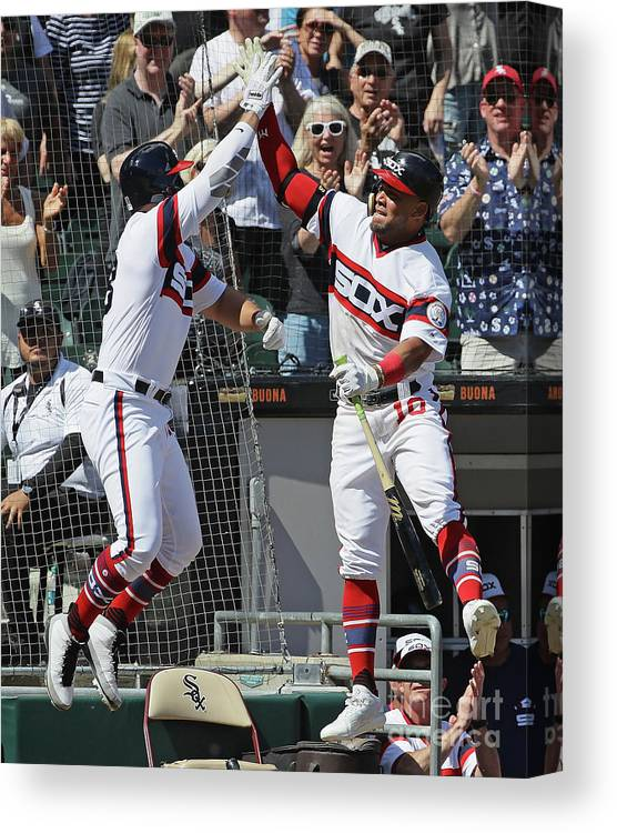 People Canvas Print featuring the photograph Yoan Moncada by Jonathan Daniel