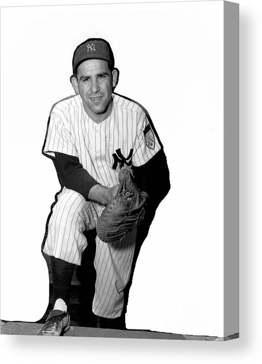 People Canvas Print featuring the photograph Yogi Berra by Kidwiler Collection