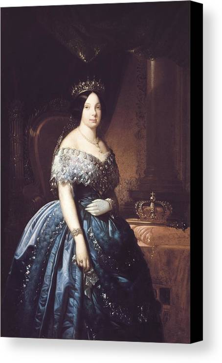 Vertical Canvas Print featuring the photograph Isabella II 1830-1904. Queen Of Spain by Everett