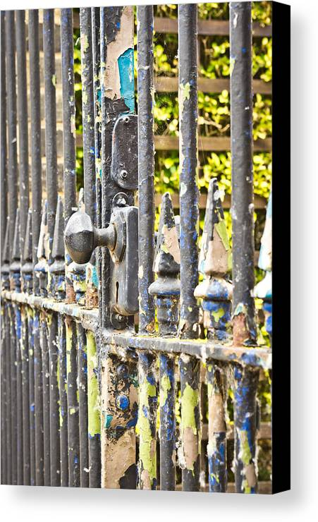 Abstract Canvas Print featuring the photograph Old Gate by Tom Gowanlock