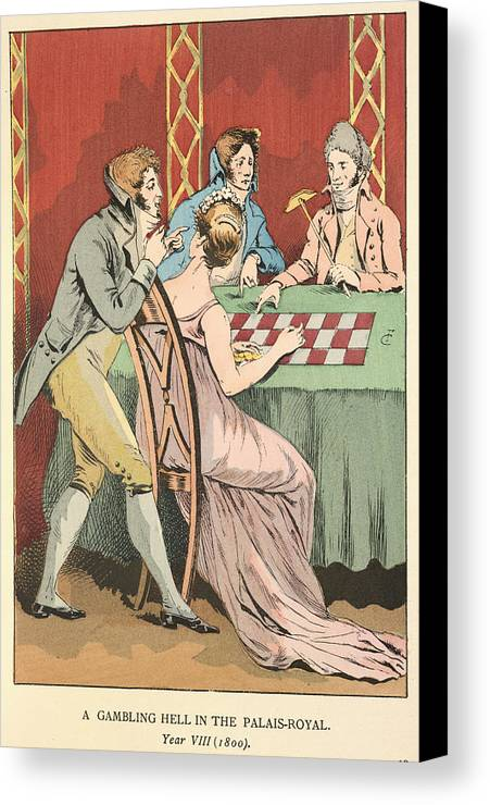 Advice Canvas Print featuring the photograph A Gambling Hell by British Library