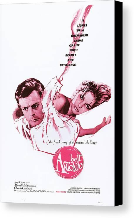 1960s Movies Canvas Print featuring the photograph Bell Antonio, Aka Il Bellantonio, Us by Everett