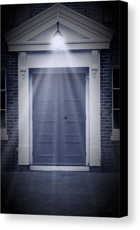 Apartment Canvas Print featuring the photograph Blue Door by Svetlana Sewell