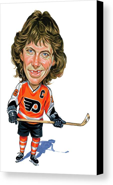 Bobby Clarke Canvas Print featuring the painting Bobby Clarke by Art