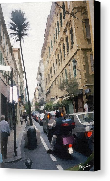 Art Canvas Print featuring the photograph Busi Street by Piero Lucia
