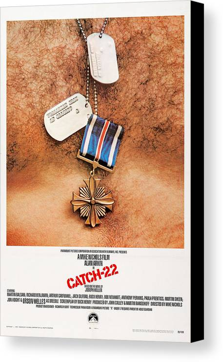 1970 Movies Canvas Print featuring the photograph Catch-22, Us Poster Art, 1970 by Everett