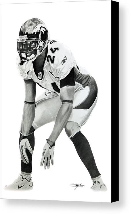 Champ Canvas Print featuring the drawing Champ by Don Medina