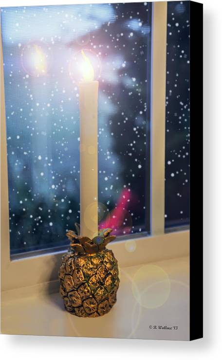 2d Canvas Print featuring the photograph Christmas Candle by Brian Wallace