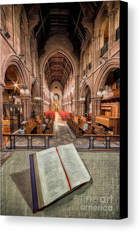 Anglican Canvas Print featuring the photograph Church Bible by Adrian Evans