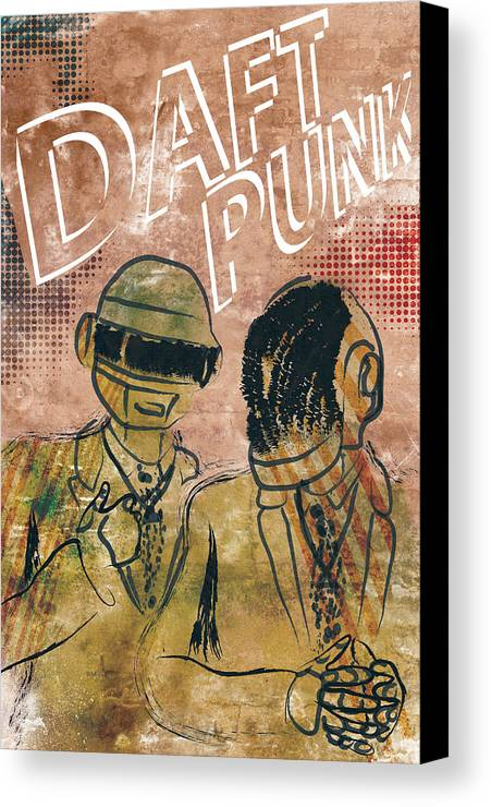 Poster Of Daft Punk. Poster Is Signed And Numbered By Artist Jackson. Limited Edition Of 100. Canvas Print featuring the photograph Daft Punk by Jackson
