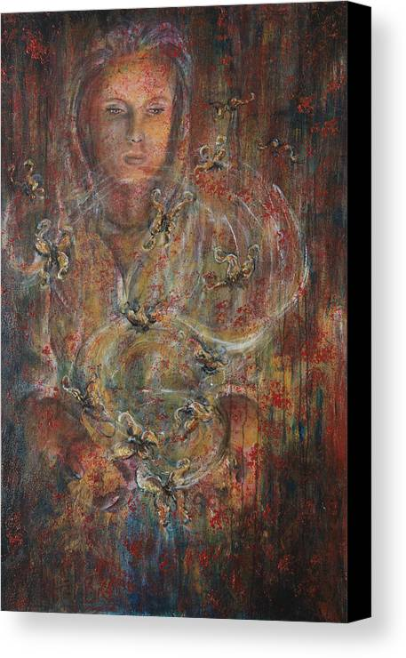 Divination Canvas Print featuring the painting Divination by Nik Helbig