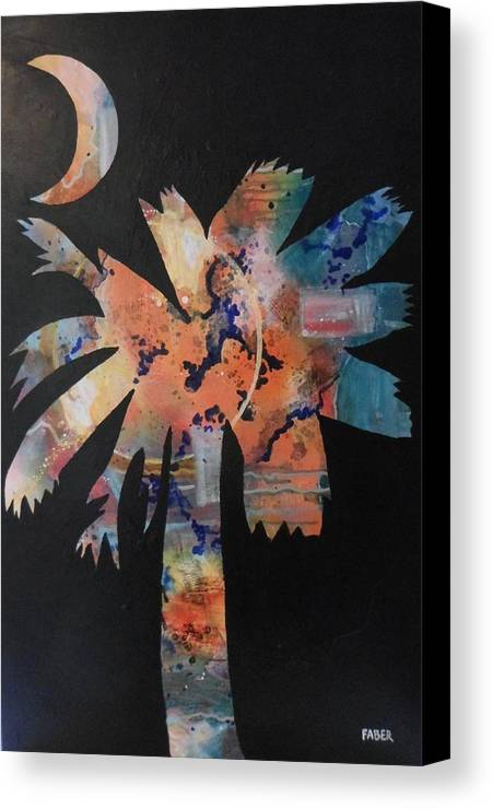 Texture Canvas Print featuring the painting Famously Hot by Dawn Faber