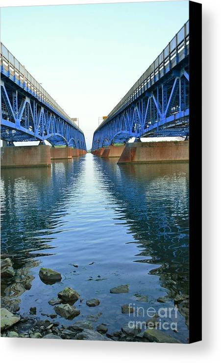 Grand Canvas Print featuring the photograph Grand Island Bridges by Kathleen Struckle