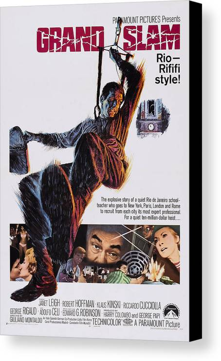 1960s Movies Canvas Print featuring the photograph Grand Slam, Aka Ad Ogni Costo, Us by Everett