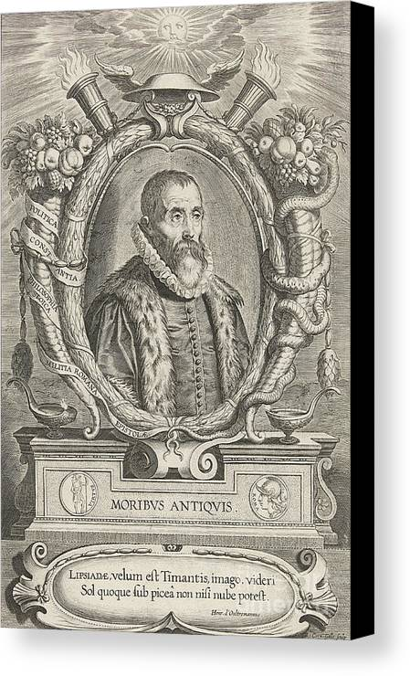 History Canvas Print featuring the photograph Justus Lipsius, Belgian Scholar by Photo Researchers