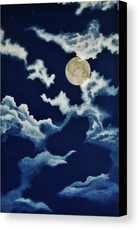 Print Canvas Print featuring the painting Look At The Moon by Katherine Young-Beck