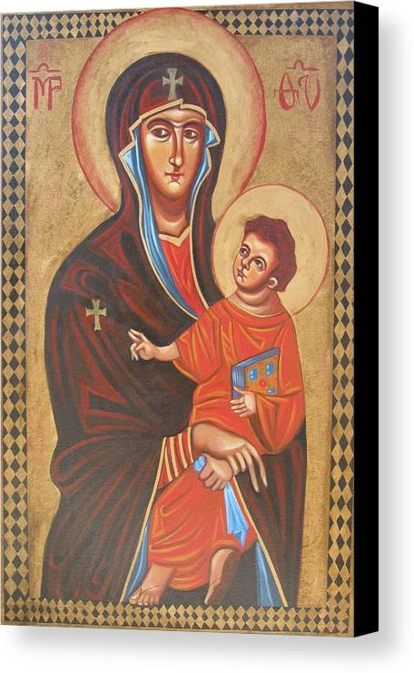 Icon Canvas Print featuring the painting Mary Help Of The Romans by Joseph Malham