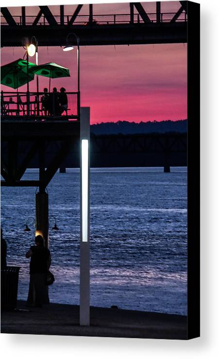 Sunset Canvas Print featuring the photograph Night Out With Friends by Kevin Jackson