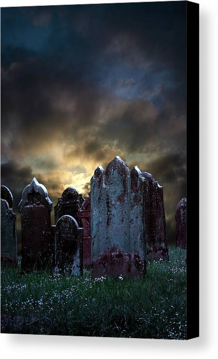 Bloody Canvas Print featuring the photograph Nightmare Hill by Svetlana Sewell