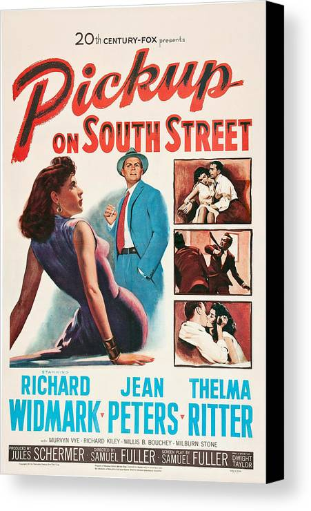 1950s Poster Art Canvas Print featuring the photograph Pickup On South Street, Left Side by Everett