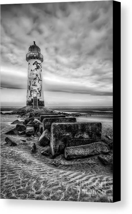 Lighthouse Canvas Print featuring the photograph Point Of Ayre Lighthouse by Adrian Evans