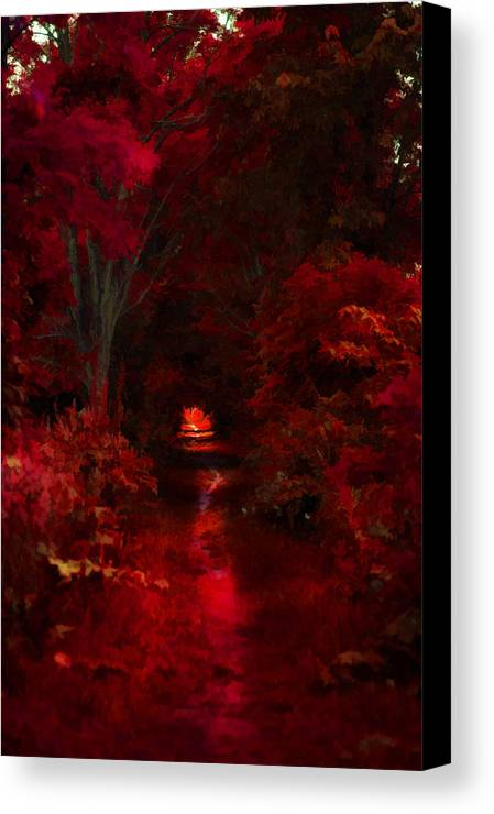 Trees Canvas Print featuring the photograph Red IIi by Tina Baxter