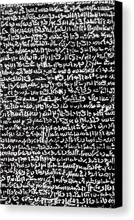 Rosetta Stone Canvas Print featuring the photograph Rosetta Stone Texture by Alessandro Zenone