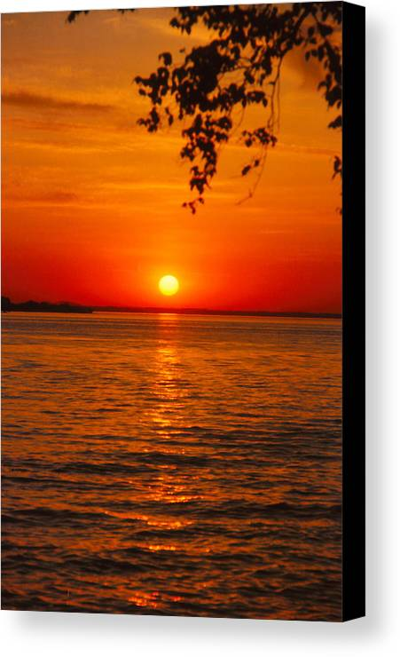 Sunset Canvas Print featuring the photograph Saint Lawrence River Sunset IIi by Brian Lucia