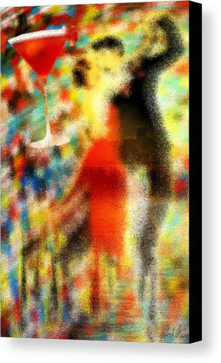 Tango As The Sunset Canvas Print featuring the painting Tango As The Sunset by Kenal Louis