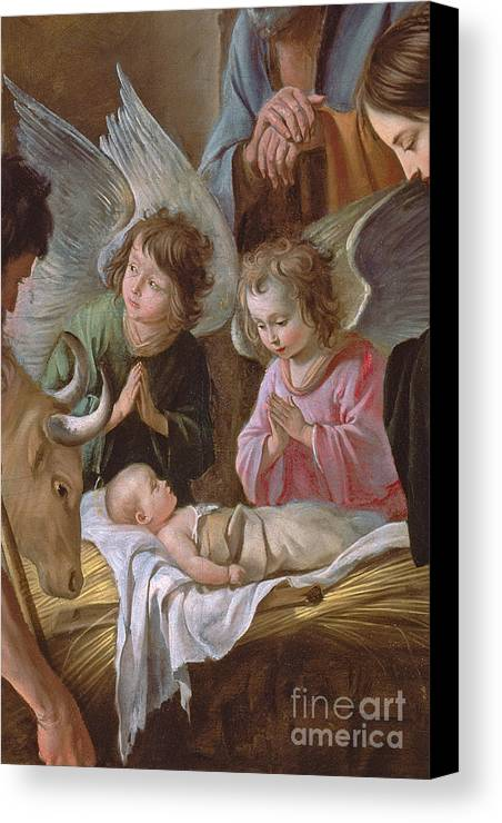 Le Nain Canvas Print featuring the painting The Adoration by Le Nain