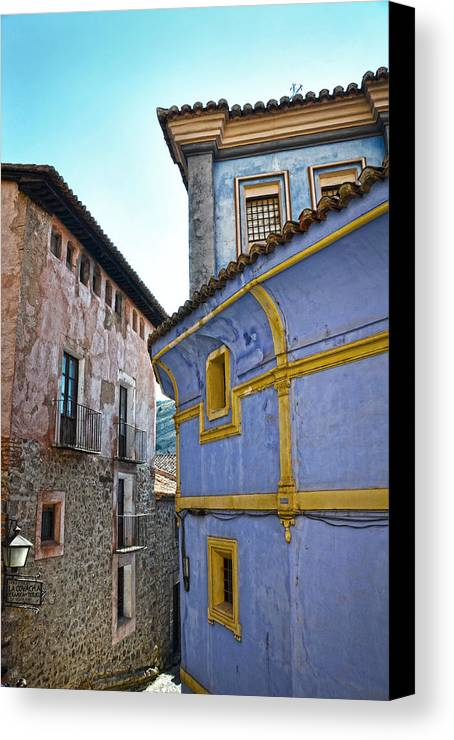 Blue Canvas Print featuring the photograph The Blue House by RicardMN Photography