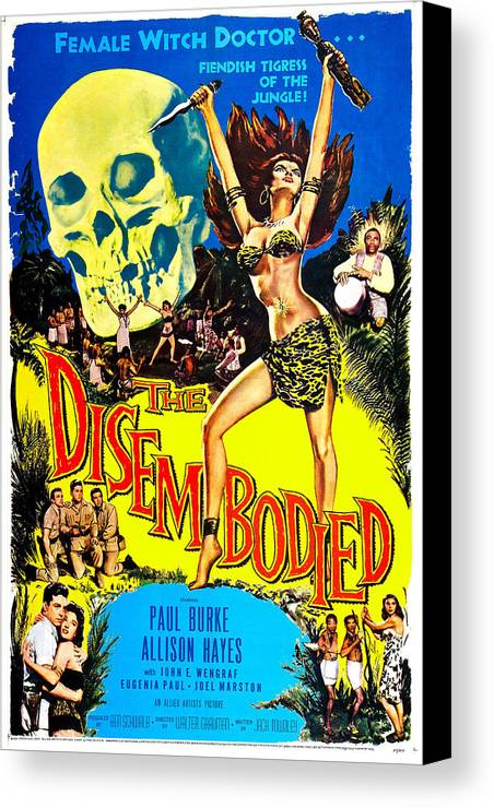 1950s Poster Art Canvas Print featuring the photograph The Disembodied, Us Poster, Bottom Left by Everett