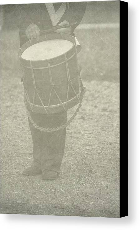 Drummer Canvas Print featuring the photograph The Drummer by Brenda Hackett