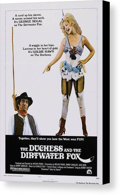1970s Poster Art Canvas Print featuring the photograph The Duchess And The Dirtwater Fox, Us by Everett