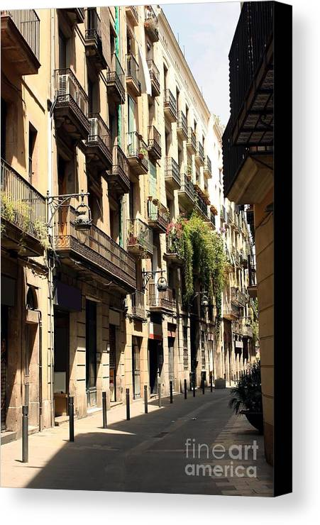 Barcelona Canvas Print featuring the photograph The Neighborhood by Sophie Vigneault