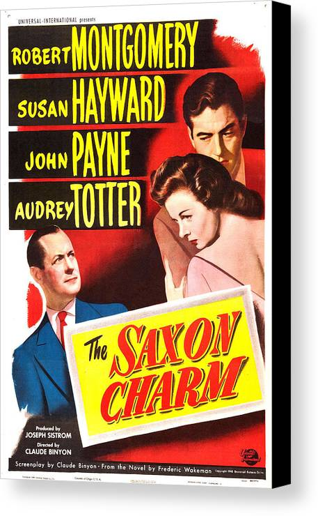 1940s Movies Canvas Print featuring the photograph The Saxon Charm, Us Poster, From Left by Everett