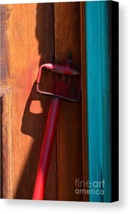 Abstract Canvas Print featuring the photograph Up Against The Wall by Newel Hunter