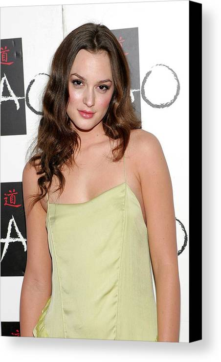 Leighton Meester Canvas Print featuring the photograph Leighton Meester In Attendance by Everett