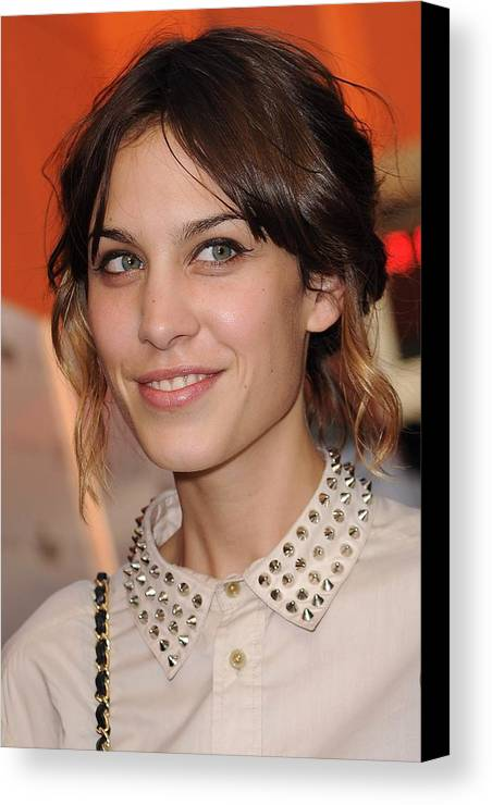 Alexa Chung Canvas Print featuring the photograph Alexa Chung At Arrivals For Inglourious by Everett